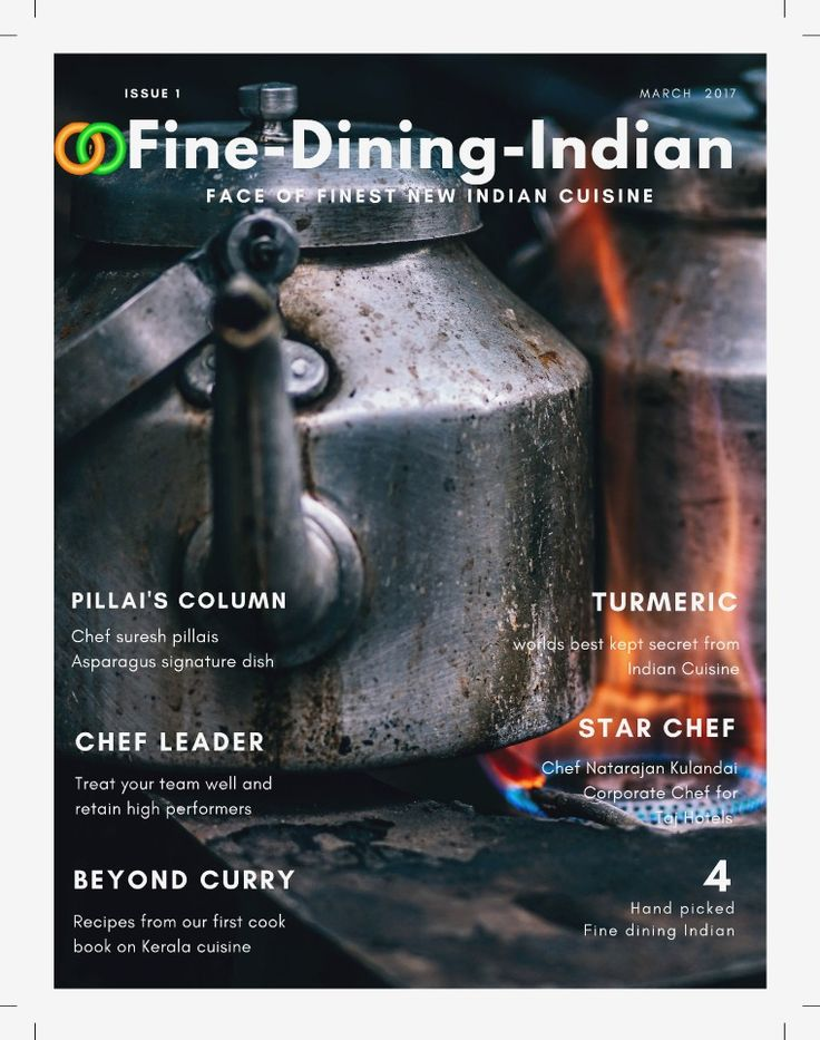 Fine Dining Indian Food Magazine Issue 1 - March 2017
