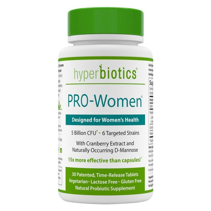 Hyperbiotics Pro-Women (30 tablets) Probiotics for Women with Cranberry & D-Mannose for Urinary Tract Health
