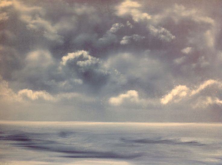 oil on canvas Sea and sky made by Tirza Atsma-Hoornstra