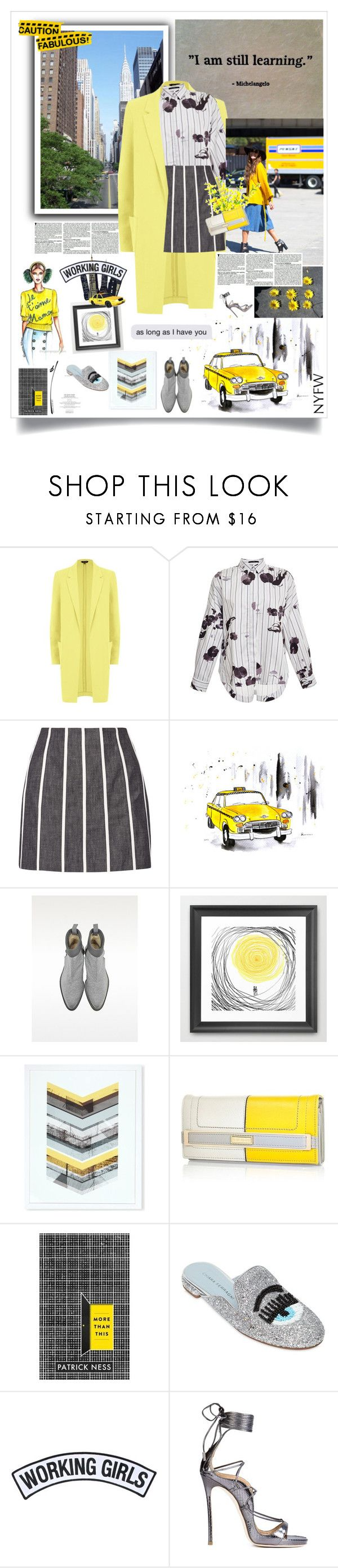 """""""boldness; nyfw"""" by lseed87 ❤ liked on Polyvore featuring TIBI, dVb Victoria Beckham, TAXI, Zoe Lee, East End Prints, River Island, Chiara Ferragni, Working Girls, Dsquared2 and NYFW"""