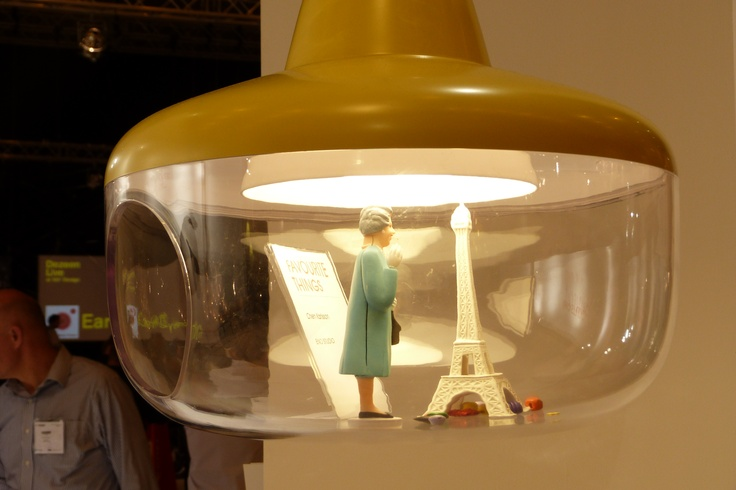 100% design - 'Favourite Things' Chen Karlsson - store your things inside the lamp bowl
