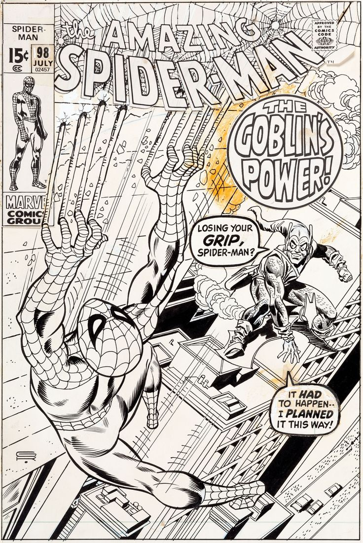 Gil Kane and Frank Giacoia Amazing Spider-Man #98 Cover Original | Lot #92112…