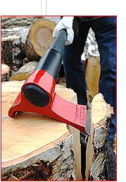 Physics defying axe that splits wood in record time