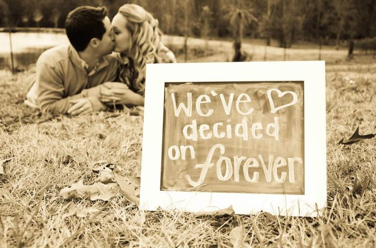 Cute engagement idea I stole from pinterest, came out great :)