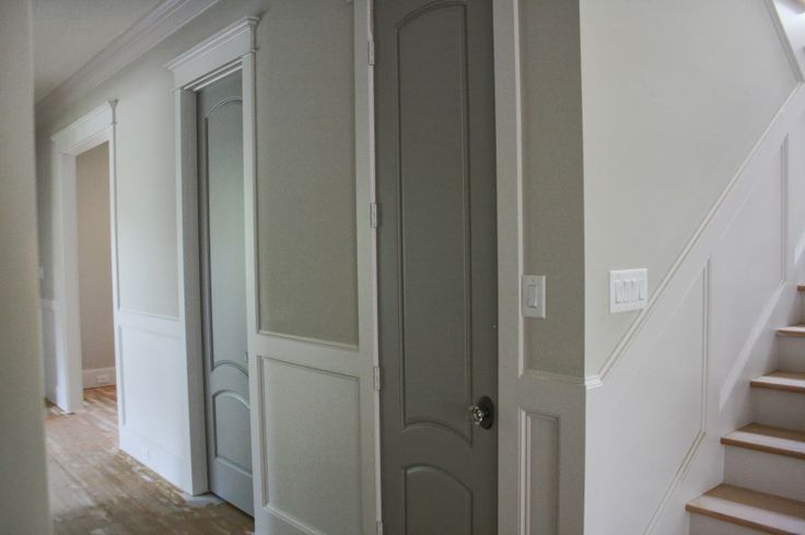 Gray interior doors....Paint interior and closet doors a darker tone of the wall color