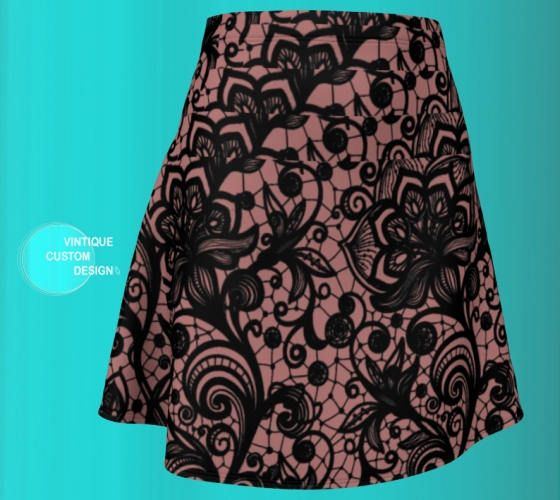 Excited to share the latest addition to my #etsy shop: MINI SKIRT WOMENS Spring Skirts for Women Designer Fashion Clothing Spring Skirts for Women Sexy Mini Skirt Lace Print Skirt Black and Pink http://etsy.me/2HOCql7 #clothing #women #skirt #vintiquecustomdesign #etsy