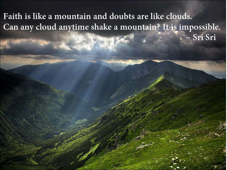 Read beautiful quotes on faith by Sri Sri Ravi Shankar