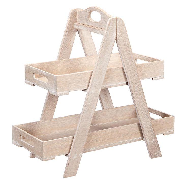 Dienblad Kirk: landelijk stoere etagère van hout #woonaccessoires #HomeLabel