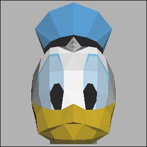 ドナルドダックの展開図 似顔絵 無料 ダウンロード ペーパークラフトファン