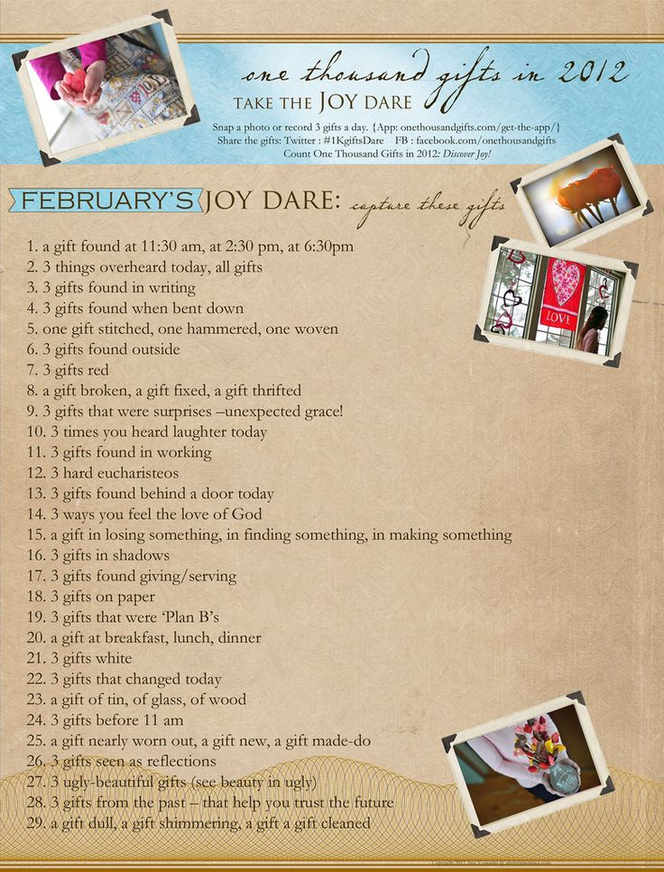 February's Dare - look for joy and you will find it, and in the looking you may even be able to overlook some misery