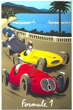 vintage Formula 1 poster