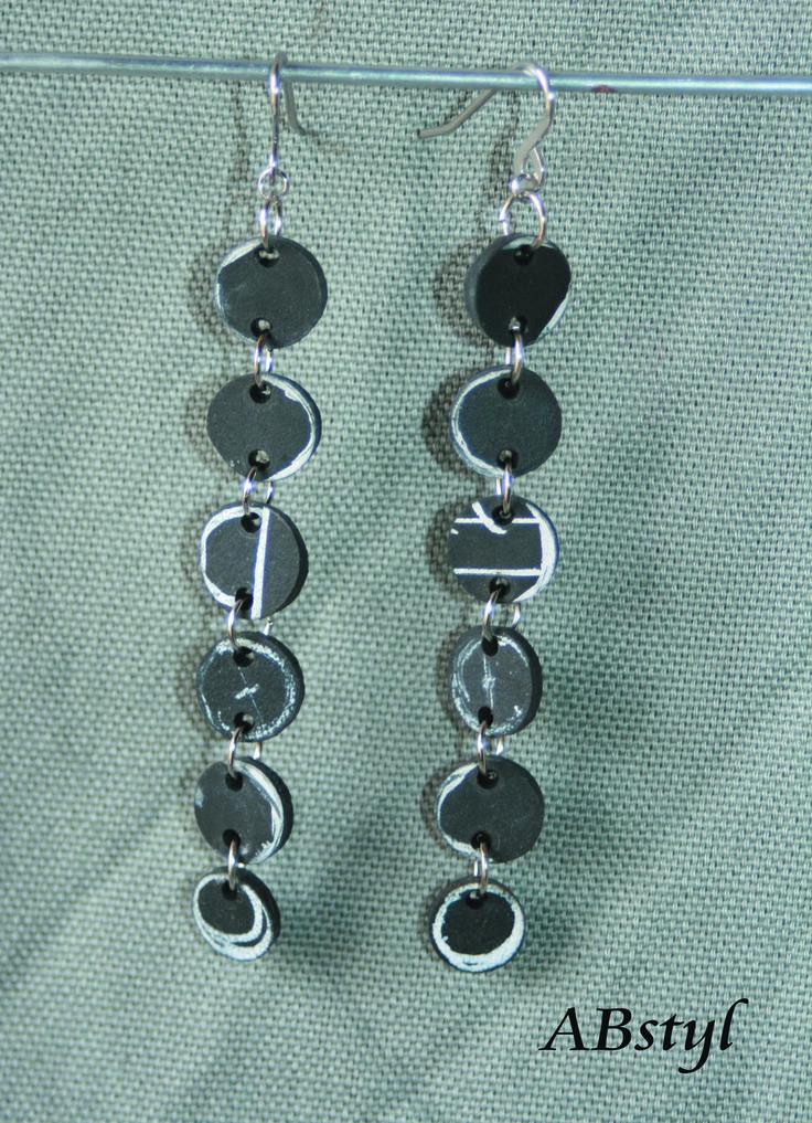 boucles d'oreilles chambre à air recyclée ronde / Upcycling / bijoux vegan / éco bijoux : Boucles d'oreille par abstyl