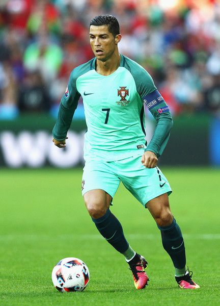 Cristiano Ronaldo Photos - Cristiano Ronaldo of Portugal in action during the UEFA EURO 2016 round of 16 match between Croatia and Portugal at Stade Bollaert-Delelis on June 25, 2016 in Lens, France. - Croatia v Portugal - Round of 16: UEFA Euro 2016