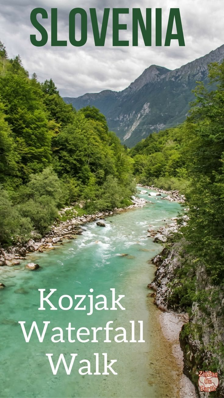 Slovenia Travel Guide - Discover the mysterious Kozjak waterfall with a great easy walk in nature - Incredible colors! Video, photos and tips to plan your visit | #Slovenia #I feelslovenia | Slovenia Road Trip | Slovenia itinerary | Things to do in Slovenia