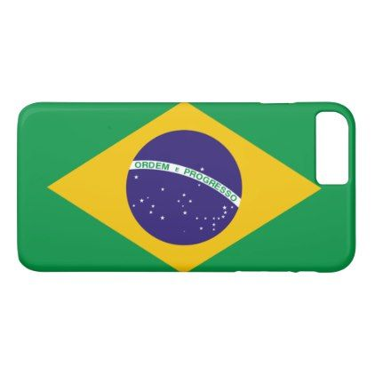 Brazil flag iPhone 8 plus/7 plus case - custom diy cyo personalize gift ideas