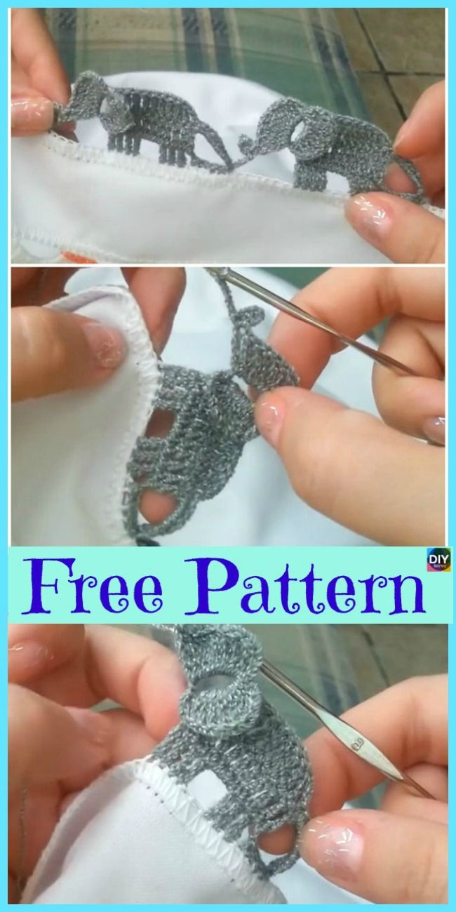 Crochet Elephant Edging - Free Tutorial