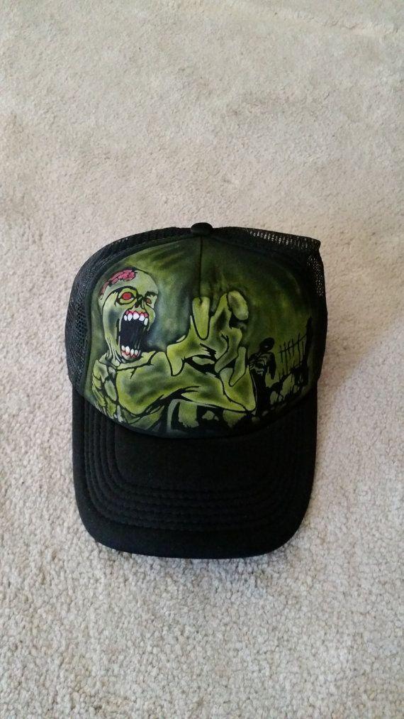 Zombie Trucker Hat 2 by StevenLaneDesign on Etsy