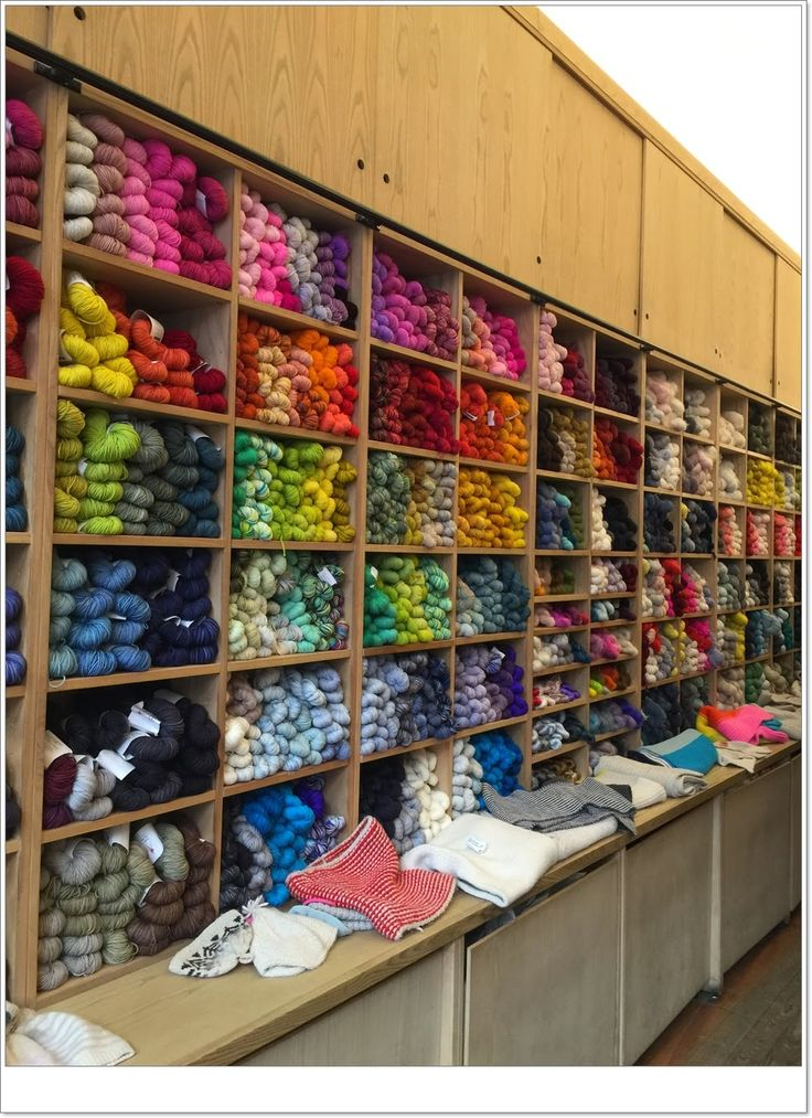 Lot of yarn in Purl Soho.