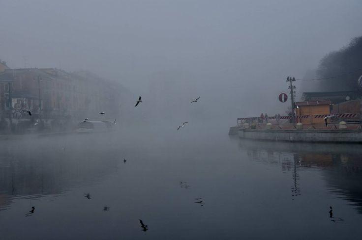 Una fitta coltre di nebbia avvolge Milano. Complici le basse temperature, la foschia non accenna a diradarsi neanche in tarda mattinata. Con le luci spente e