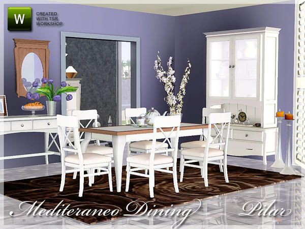 Pilar 39 s mediterraneo dining room sims 3 design for Sims 3 dining room ideas