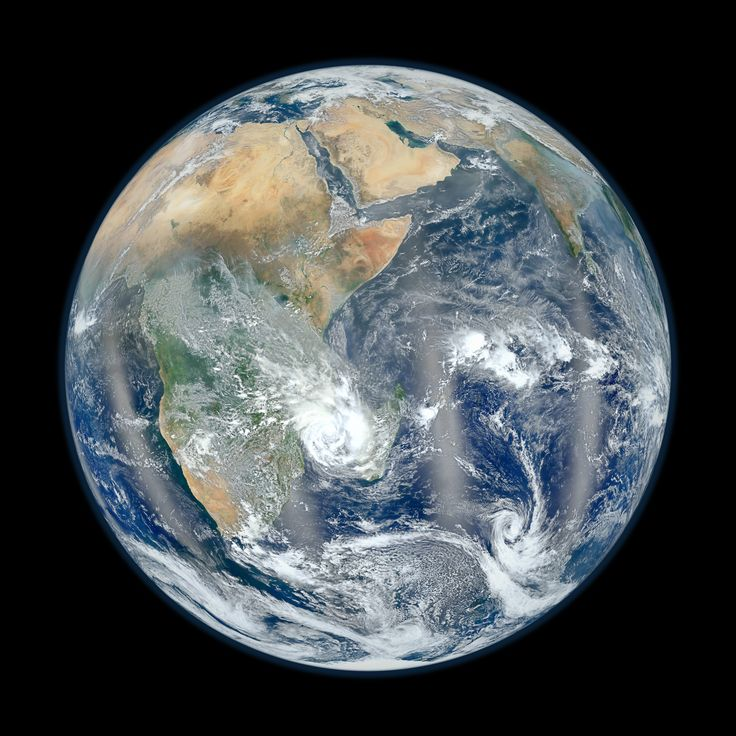 Found! Hidden Ocean Locked Up Deep in Earth's Mantle.  Earth's surface oceans are quite apparent, even from satellite images of our blue marble, but now scientists have found oceans' worth of water are hidden deep in Earth's mantle, locked up in a mineral called ringwoodite. Credit: NASA/NOAA