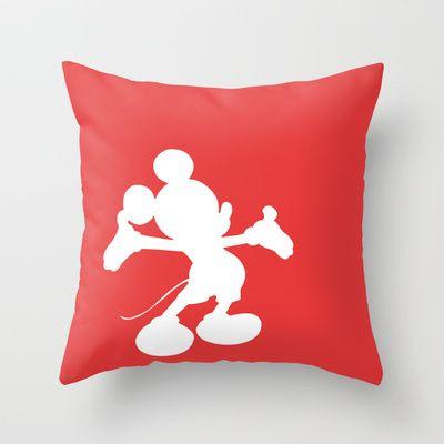 Mickey Mouse Throw Pillow by JessicaSzymanski - $20.00