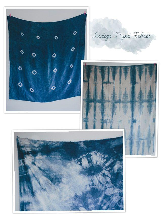 DIY Indigo Dyed Fabric Samples