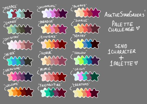I saw some friends doing palette challenges during the week, so I decided to start my own for fun.