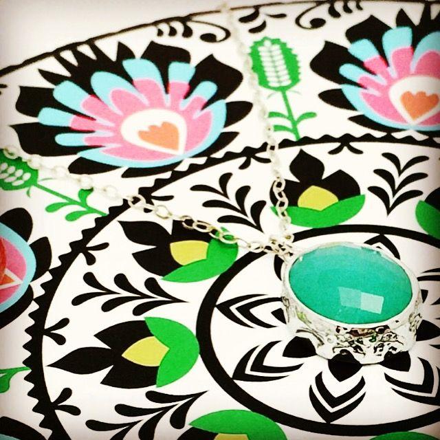My beautiful aqua necklace