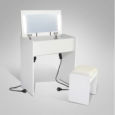 White Emma Dressing Table with Led Light & Stool Set by Emma's Design. Get it now or find more Dressing Tables at Temple & Webster.