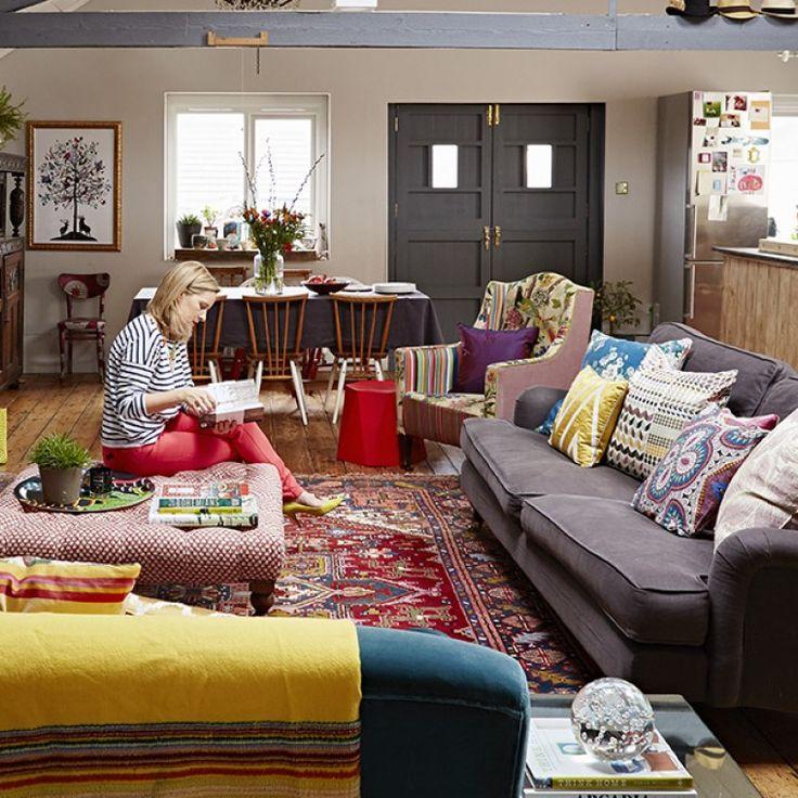 Interior Designer Sophie Robinsons Open Plan Loft Apartment Living Room In Central Brighton