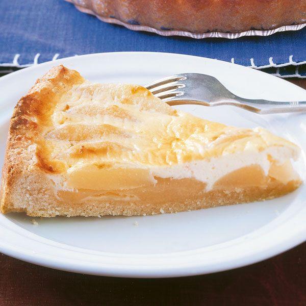 Rezept für Birnenkuchen mit Sahneguss