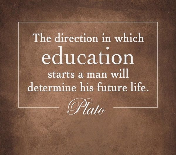 """The direction in which education starts a man will determine his future in life."" - Plato #education #onlinetuition #educationquotes"