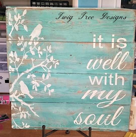 Custom sign for a customer - love how it turned out !