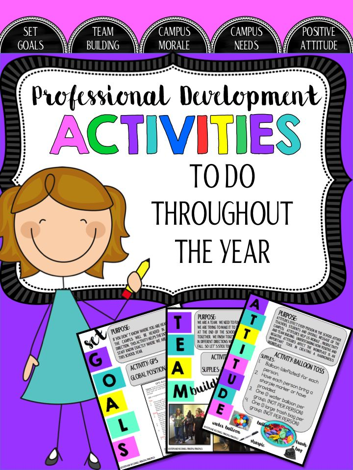 Professional Development Activities- A great resource for the school year.  Make your professional development days meaningful with a message.