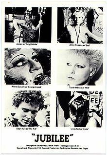 Jubilee. UK. Jenny Runacre, Jordan, Neil Campbell, Toyah Wilcox, Adam Ant. Directed by Derek Jarman. 1978