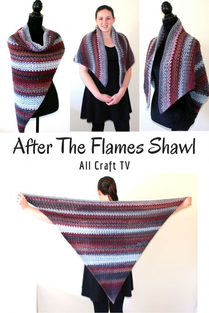 After The Flames Shawl using the v stitch - All Craft TV