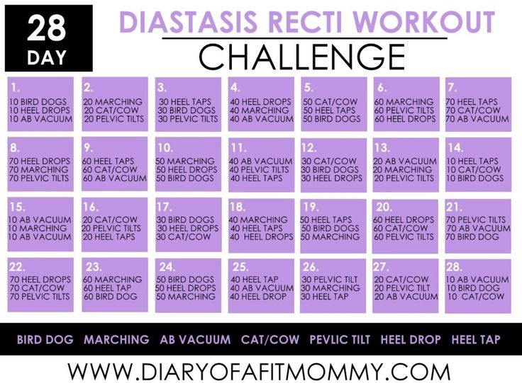 28 Day Diastasis Recti Workout Challenge
