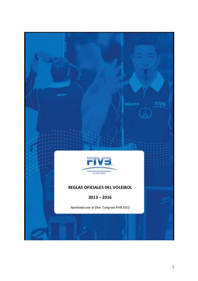 Reglas del voleibol 2013 2016