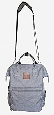 Citi Babies Grey Diaper Bag Backpack - Car Seat Canopy Included - Shoulder Strap, Large Capacity, Insulated Bottle Pockets, Changing Pad, Stroller Clip- Trendy Diaper Bag for Dad & Mom or Baby Shower