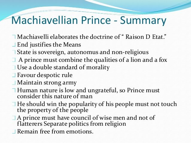 essay on niccolo machiavelli the prince Essays on machiavelli prince prince by niccolo machiavelli the prince by niccolo machiavelli is one of the modern works of philosophy.
