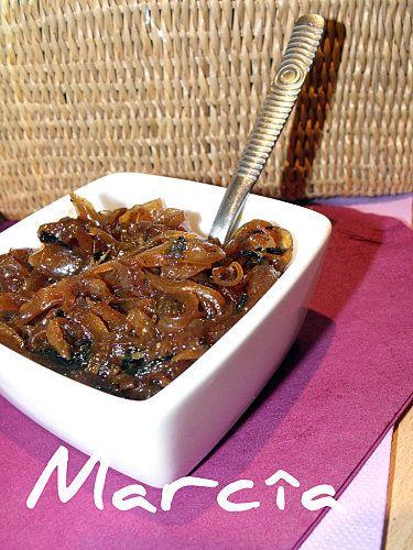 Confit d'oignons rapide aux épices - Recette - Marcia 'Tack