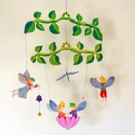 Kinderkram Wooden Baby Mobile - Flower Fairy: Nature Baby, Kinderkram Wooden, Wooden Baby, Baby Mobiles, Fairies Mobiles, Baby Registry, Natural Baby, Baby Toys, Flower Fairies