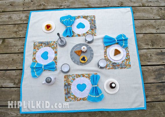 Tea Party Play Mat perfect for your little princess $35 Hip Lil Kid