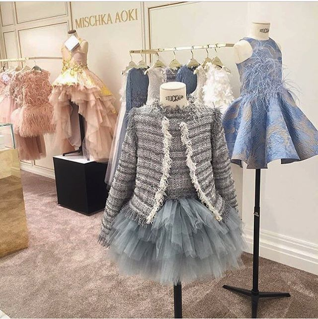 Mischka Aoki Tweed Jacket and dress displayed at HARRODS Mini SUPERBRANDS area at @harrods London . #mischkaaoki #fw16 #harrods #minisuperbrands #superbrands #london #children #luxury • beautiful shot by @agatha_ossowski
