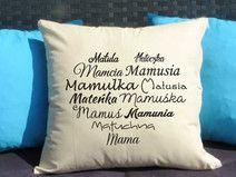 Mama serce, Poduszka dekoracyjna z nadrukiem, Prezent dla mamy, Dzień Mamy, Urodziny Mamy, Upominek dla Mamy, Poduszka dla mamy