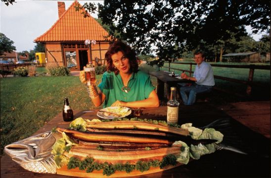 Smoked fish, especially smoked eel, is a north German speciality
