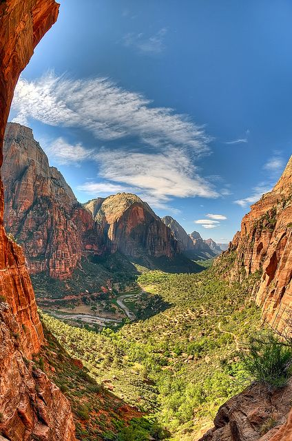 Zion Canyon from Angel's Landing, Zion National Park; photo by .Scott Barlow