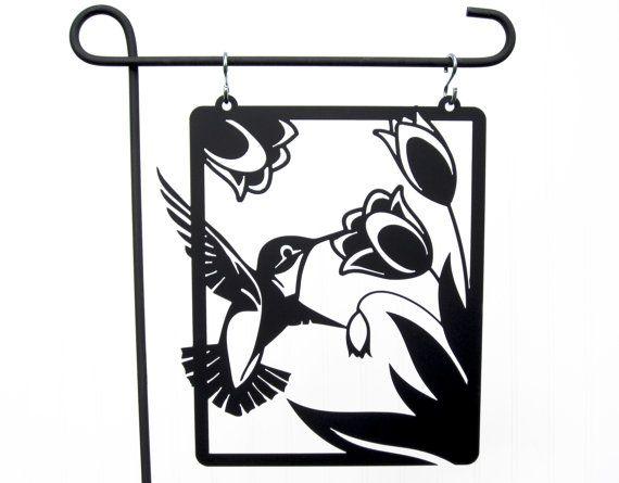 Hummingbird Garden Ornament  Metal Signs by RefinedInspirations, $37.95