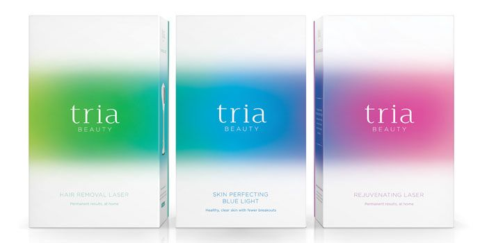 Tria Beauty, packaging design by Pearlfisher